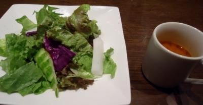東麻布/赤羽橋「蘭麻」ランチ サラダ・スープ