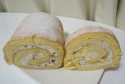 白金台「La Farine ラ・ファリーヌ」和栗のロールケーキ