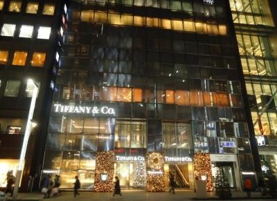 銀座 TIFFANY&Co. ティファニー ライトアップ