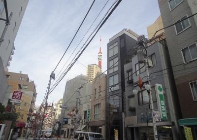 東麻布商店街から東京タワー