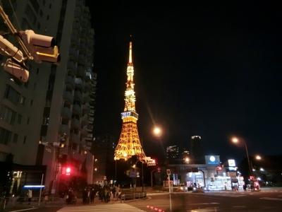 東京タワー2017年夜