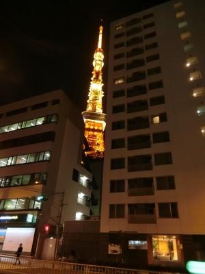 赤羽橋「TOWERS188 タワーズ188」から見える東京タワー