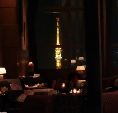 リッツカールトン東京 45階 ロビーラウンジ・バー 夜景