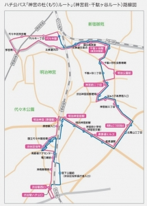 ハチ公バス 路線図