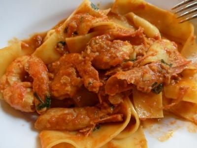 六本木 イル フィーゴ インゴルド IL FIGO INGORDO パッパルデッレ 赤海老のトマトクリームソース