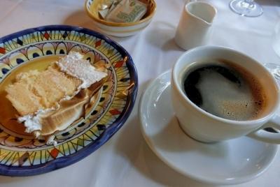 六本木 イル フィーゴ インゴルド IL FIGO INGORDO  デザート シフォンケーキ コーヒー