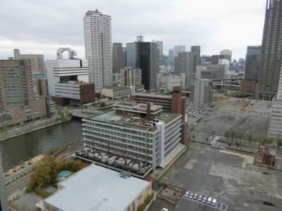 リーガロイヤルホテル大阪 クラブフロア ザ・プレジデンシャルタワーズ ダブルルーム眺望