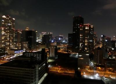 リーガロイヤルホテル大阪 クラブフロア ザ・プレジデンシャルタワーズ ダブルルーム部屋 夜景 眺望