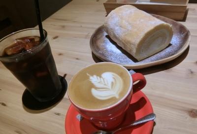 渋谷/松濤「フランネル スタイル コーヒー」ロールケーキ