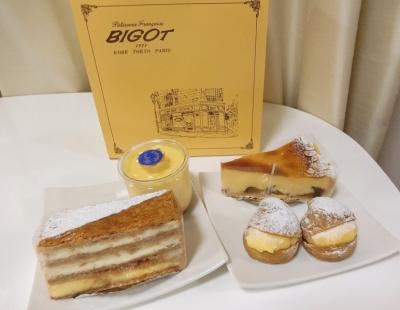 銀座マロニエゲート「BIGOT ビゴの店」ケーキ ミルフィーユ シュークリーム