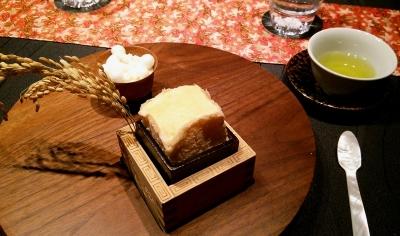 六本木 龍吟 デザート 酒スフレ