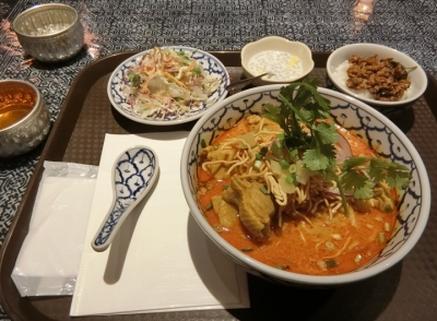五反田「Lanna Thai Cuisine ラーンナー タイレストラン」カオソーイ
