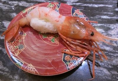 東急プラザ銀座 回転寿司 根室花まる ぼたん海老