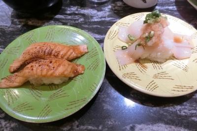 東急プラザ銀座 回転寿司 根室花まる 炙りサーモン