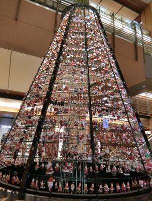 東京ミッドタウン クリスマスイルミネーション 2017 サンタツリー