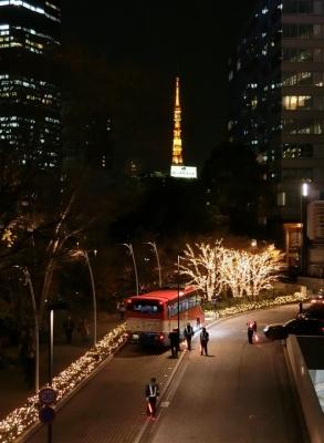 東京ミッドタウン クリスマスイルミネーション 2017 東京タワー