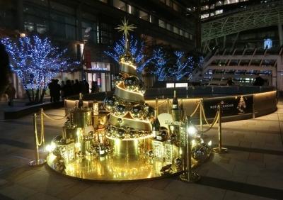 東京ミッドタウン クリスマスイルミネーション 2017 モエシャンドンツリー