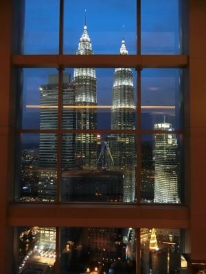 マレーシア クアラルンプール グランドハイアットからペトロナスツインタワー