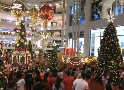 マレーシア クアラルンプールのクリスマスツリー 2017 パビリオン