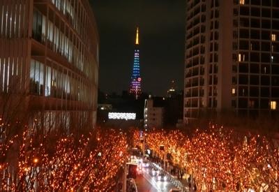 六本木ヒルズ クリスマス イルミネーション 2017 けやき坂