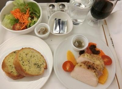 マレーシア航空 ビジネスクラス成田〜クアラルンプール 機内食 洋食