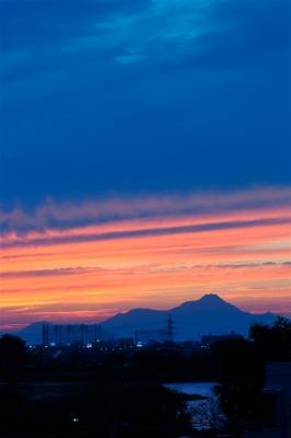 雲仙普賢岳の夕焼け