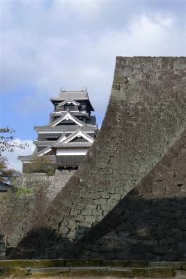 二様の石垣から熊本城