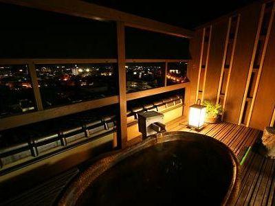 露天風呂付客室からの眺め
