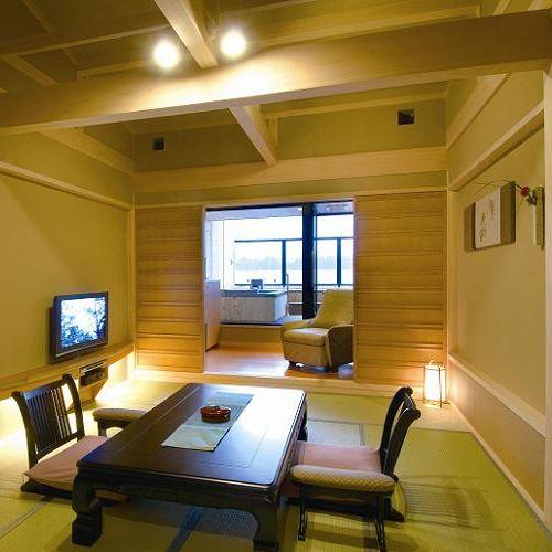 露天風呂付和室10畳の一例