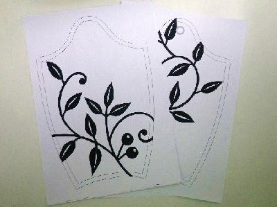 刺繍図案『植物の蔓』
