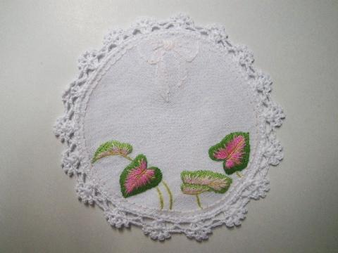 無料 刺繍図案 コースター