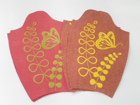 《蝶と草花刺繍》バッグパターン