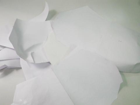 バッグの裏地の型紙