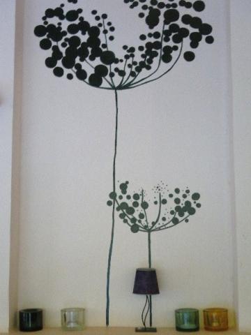 カフェの壁画