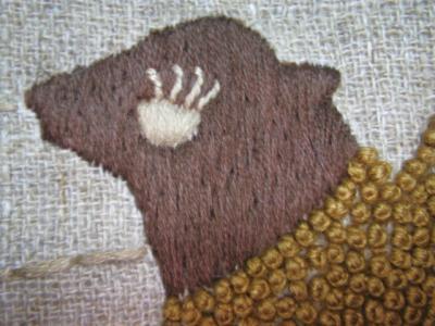 ラクダの刺繍