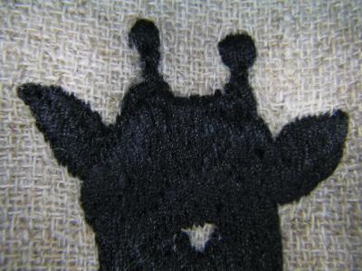 麒麟の刺繍