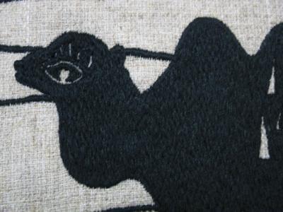 ミシン刺繍で刺したラクダ