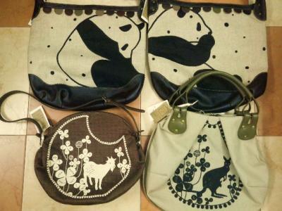 刺繍バッグ、山羊