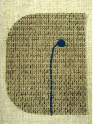蓮の実の刺繍