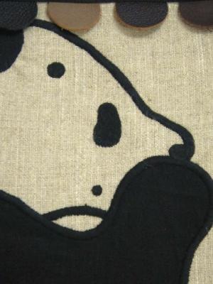 笹とパンダ刺繍