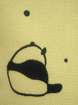 パンダの刺繍