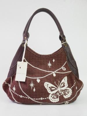 『蝶と首飾り刺繍』グラニーバッグ