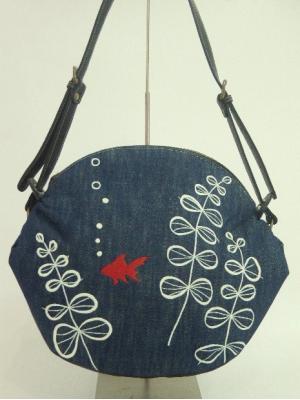 『金魚の刺繍』ショルダーバッグ
