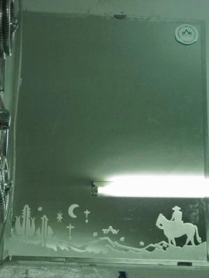 馬と砂漠の絵の鏡。