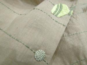 手刺繍スカーフ、蝶