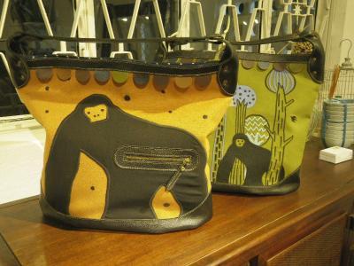 刺繍バッグ、ゴリラ