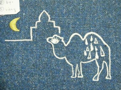 月の砂漠刺繍