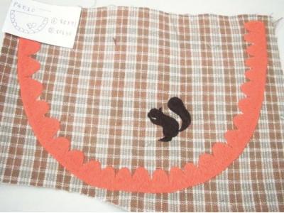 リスの刺繍