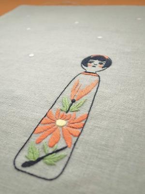 こけしの刺繍