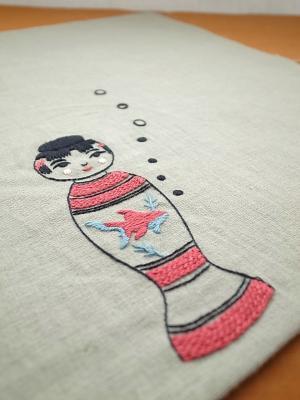 こけし刺繍